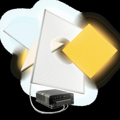 custom led light panel