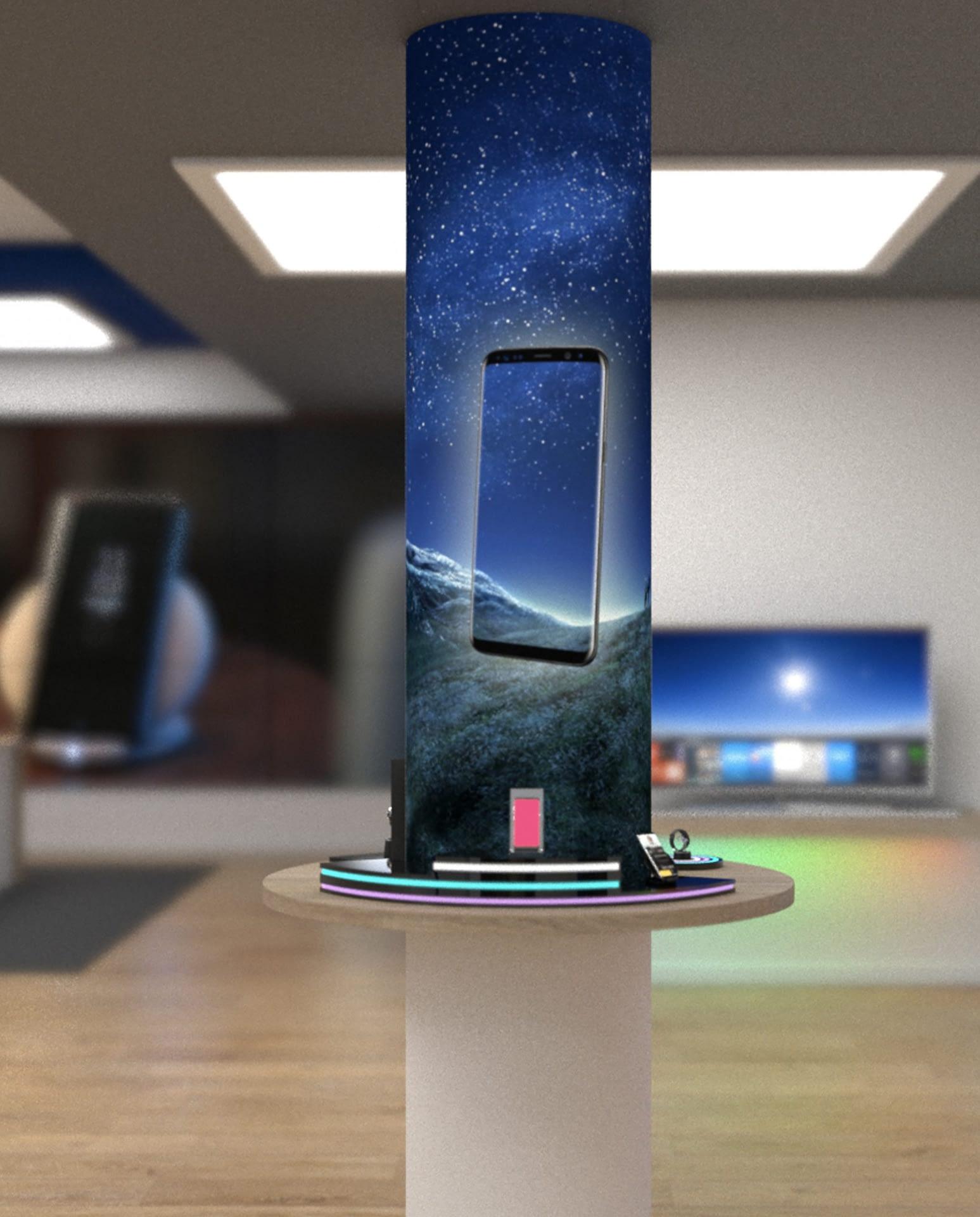 caja luz columna