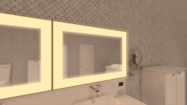 mirror led panel actilum