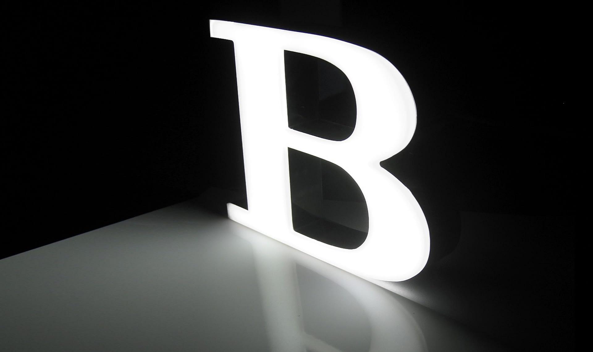 LED lightbox caja luz logo letra actilum