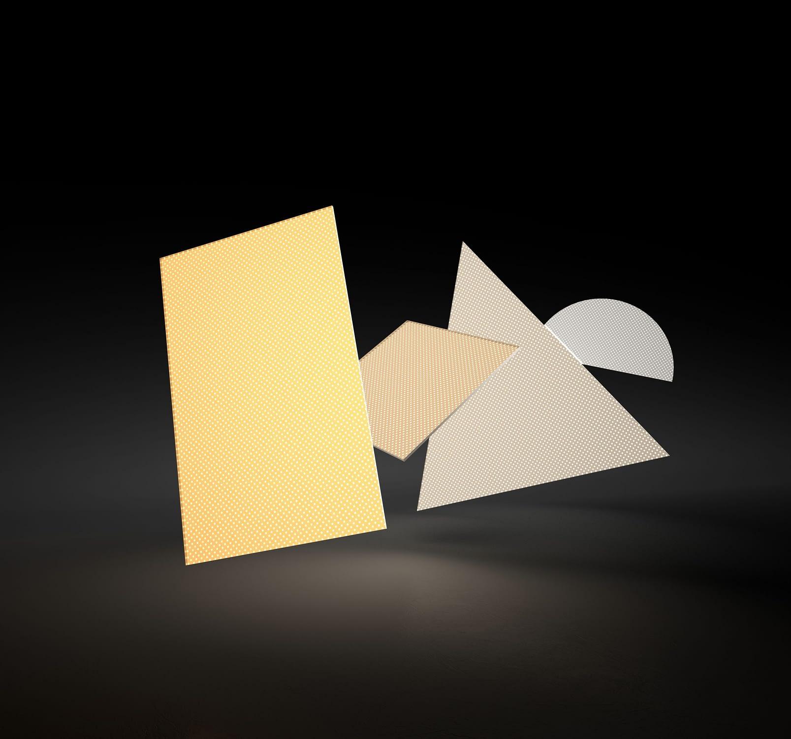 paneles de luz triangulares
